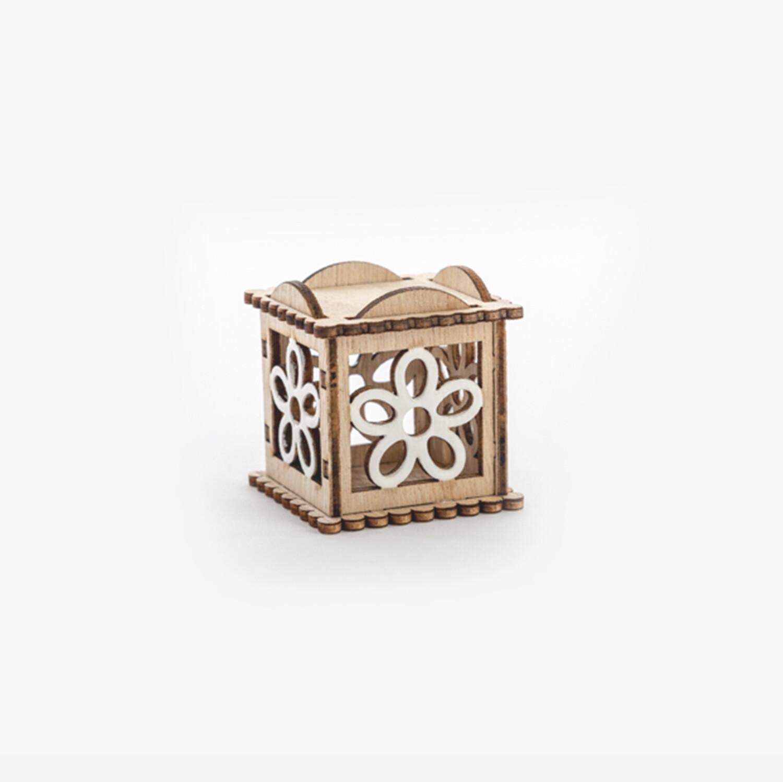 Bomboniera scatolina decorazione fiore Pz. 12
