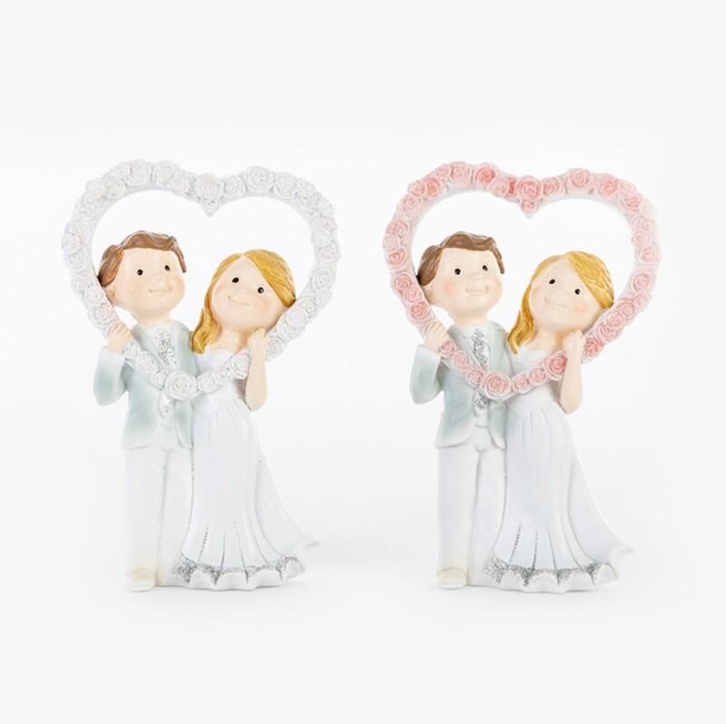 Bomboniera sposi due soggetti assortiti Pz. 4