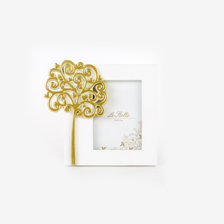 Bomboniera portafoto piccolo con albero oro Pz. 1