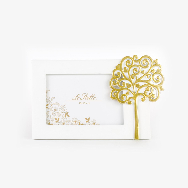 Bomboniera portafoto con albero oro Pz. 1