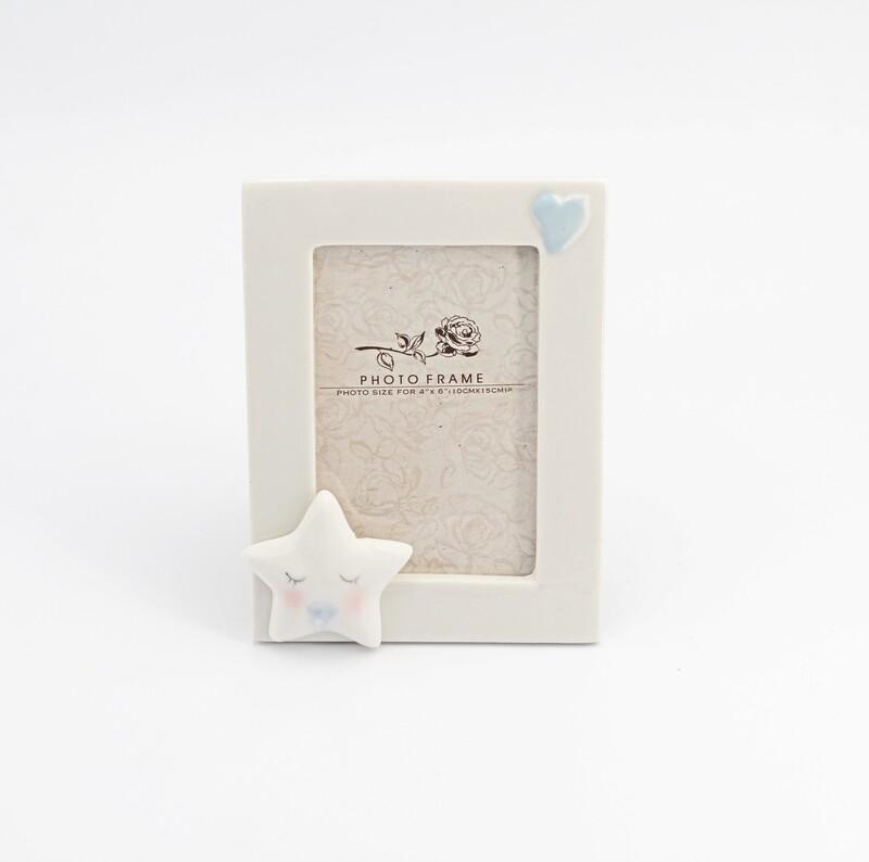 Bomboniera portafoto con stellina celeste Pz. 1