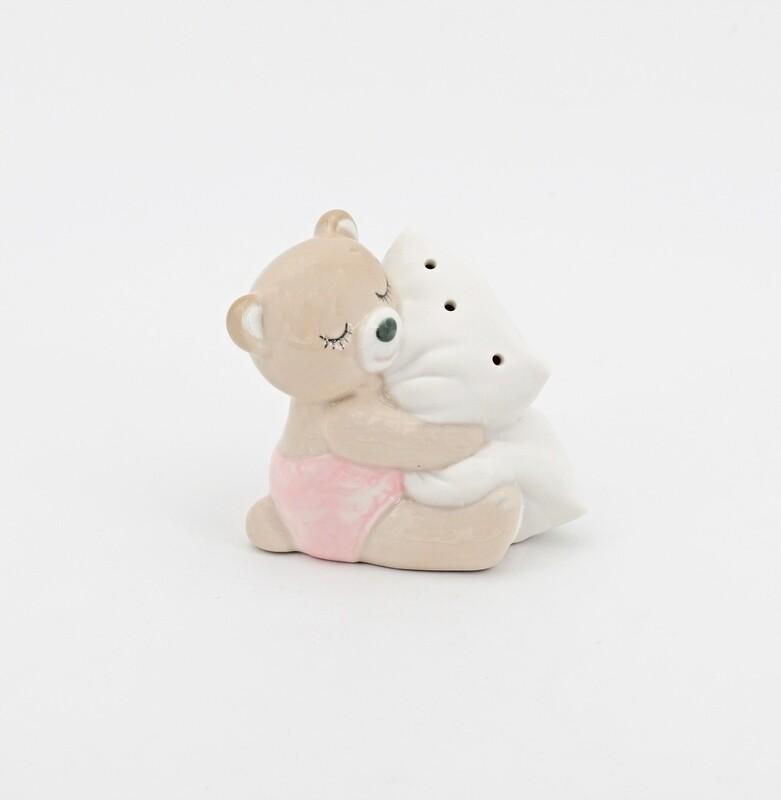 Bomboniera Ilary Queen orsetto rosa con cuscino a led Pz. 1