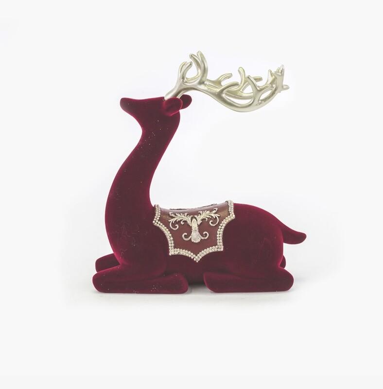Bomboniera renna natalizia rossa Pz. 2