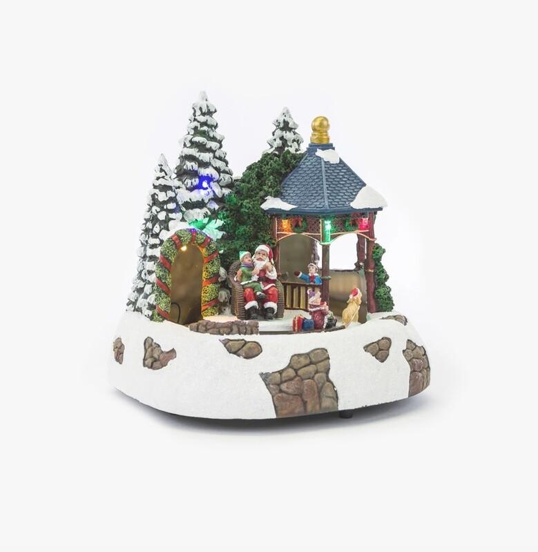 Paesaggio natalizio con movimento luci e musica Pz. 1