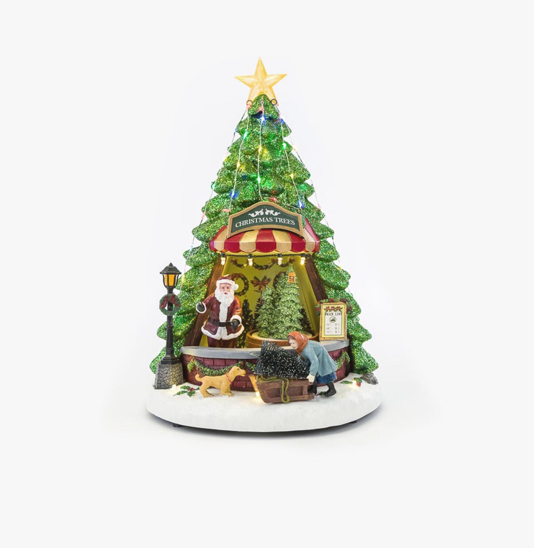 Bottega natalizia con movimento luci e musica Pz. 1