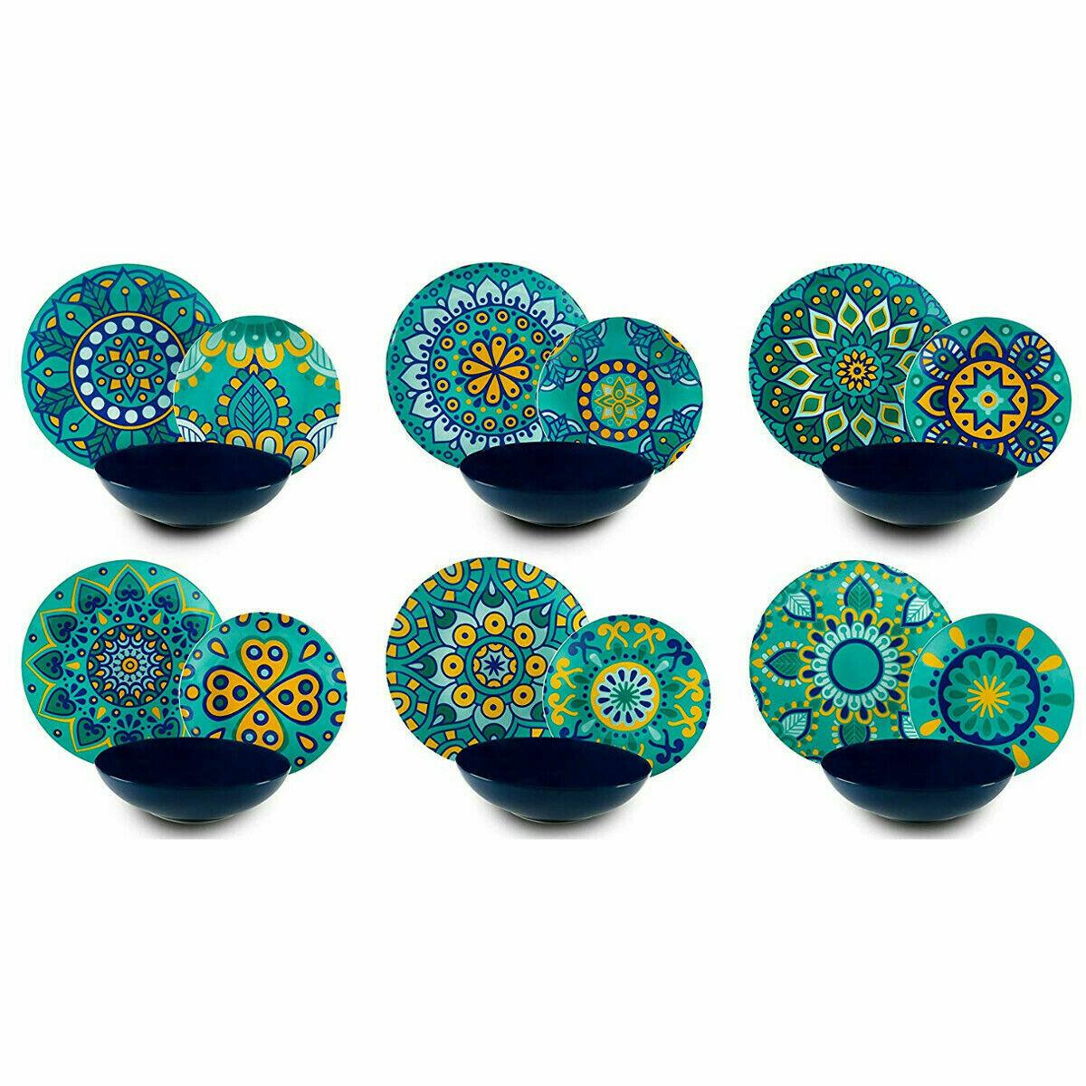 Excelsa Mandala Mediterraneo Servizio piatti da tavola 18 pezzi