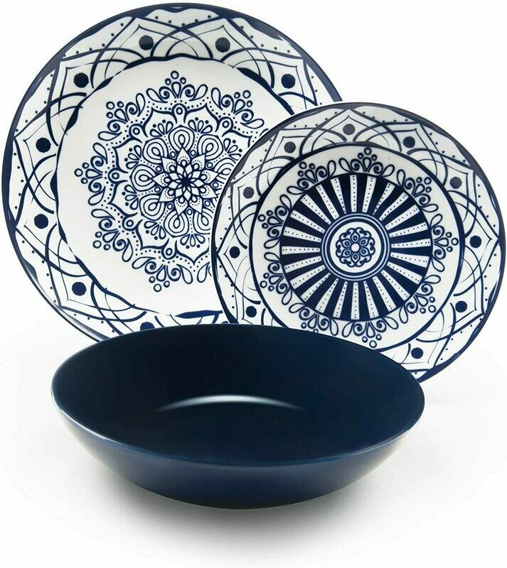Servizio piatti da tavola 18 pezzi boheme blue