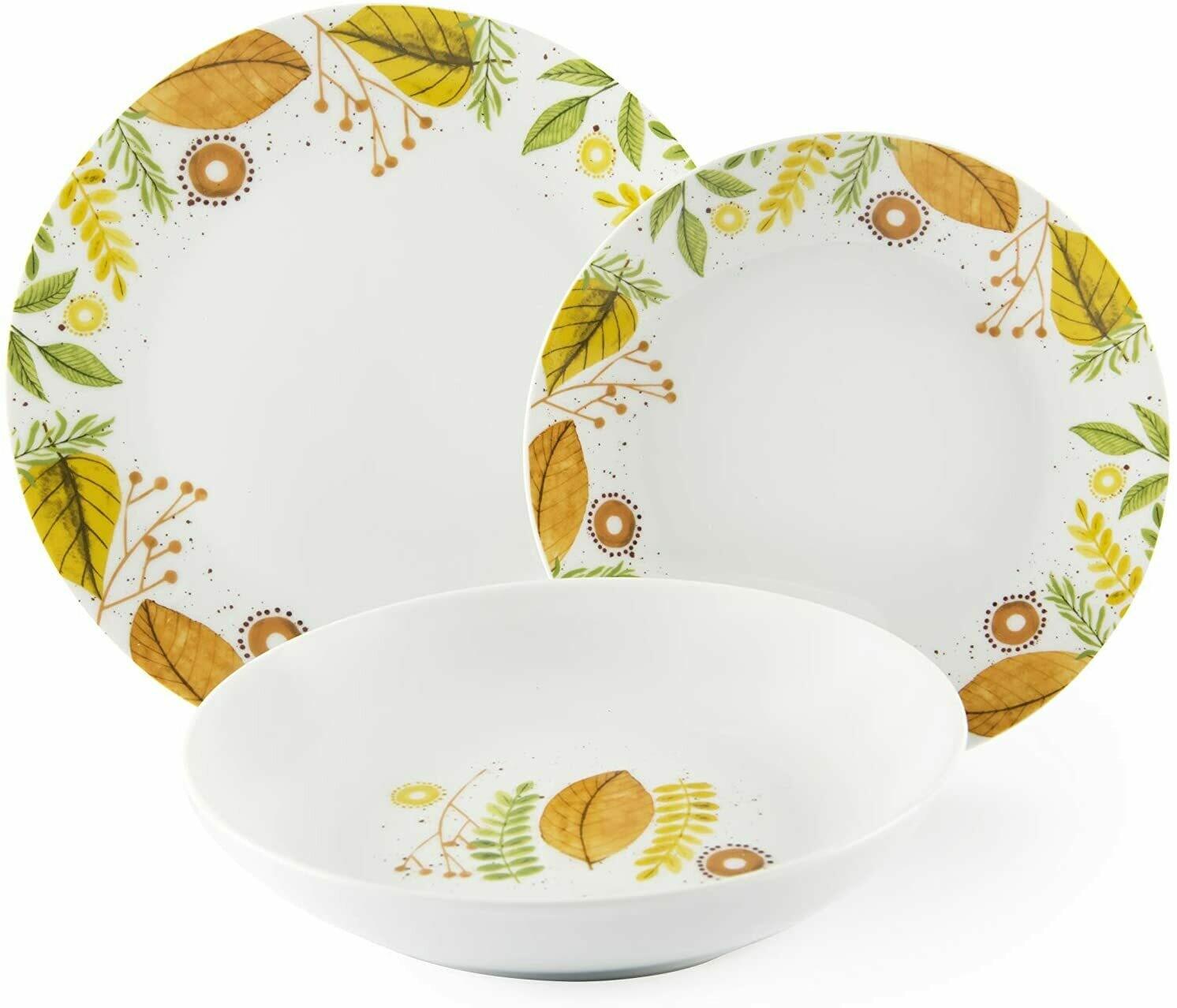 Servizio piatti da tavola 18 pezzi autumn leaves