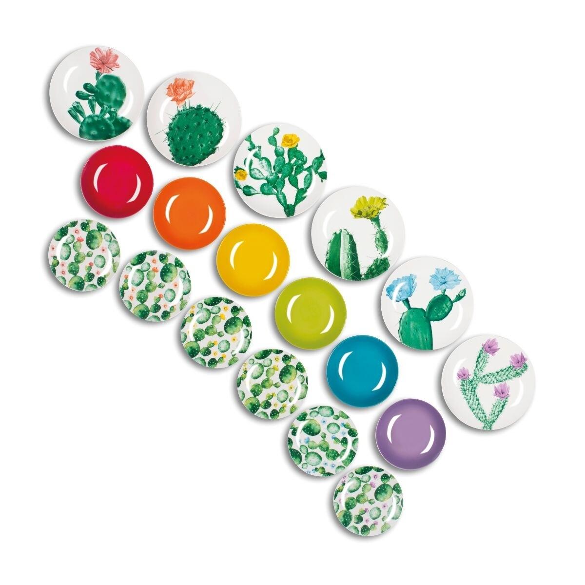 Servizio piatti da tavola 18 pezzi color cactus
