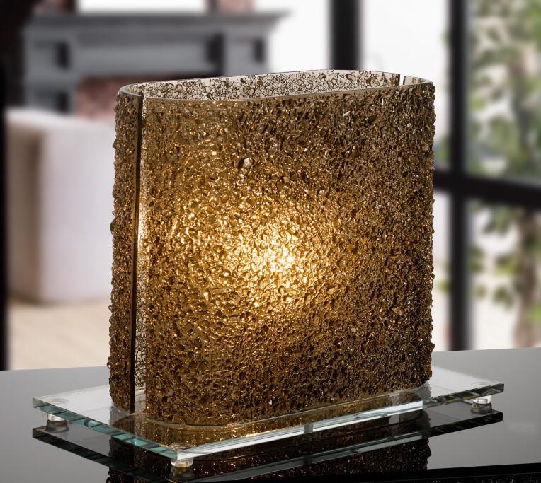 Lampada cristalli Bronzo Pz. 1