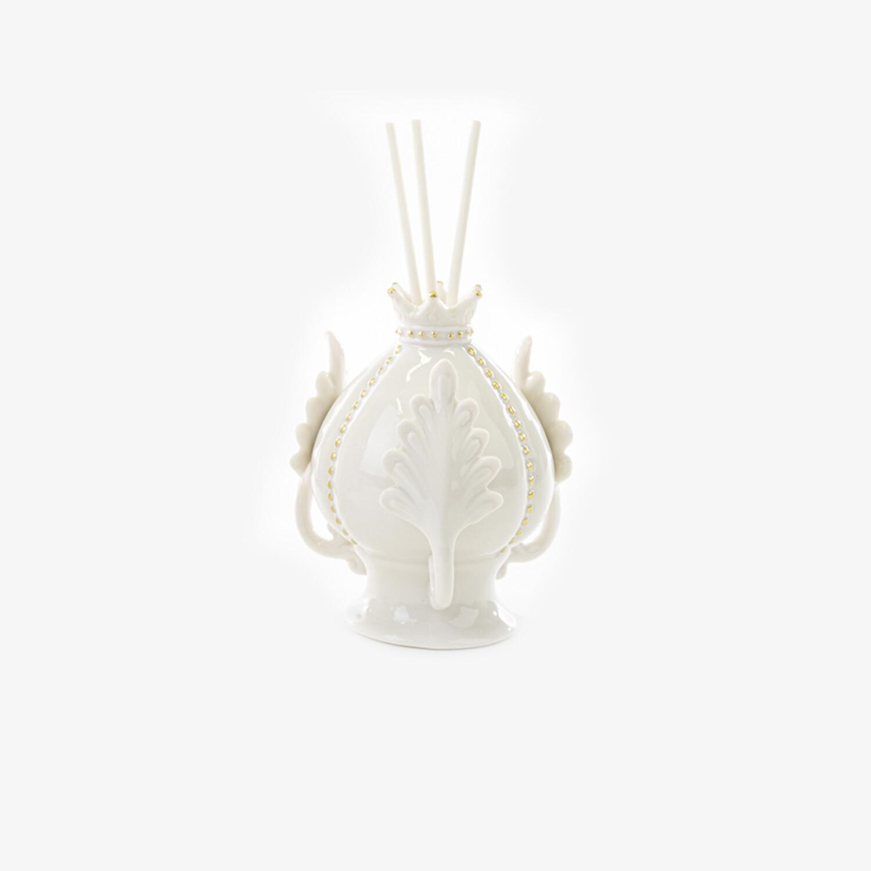 Bomboniera profumatore pomo piccolo bianco Pz. 1
