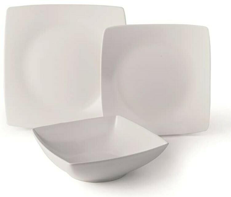 Servizio piatti da tavola 18 pezzi eclipse bianco
