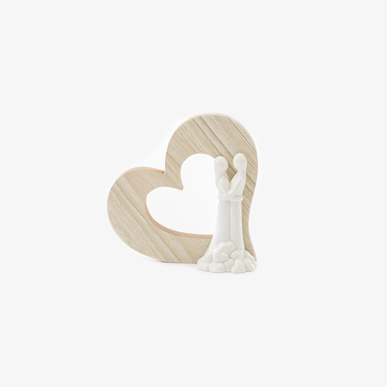 Bomboniera coppia sposi media con cuore Pz. 8