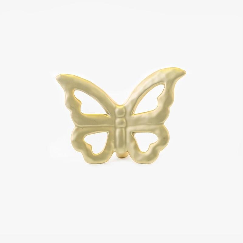 Bomboniera farfalla media colore oro Pz. 2