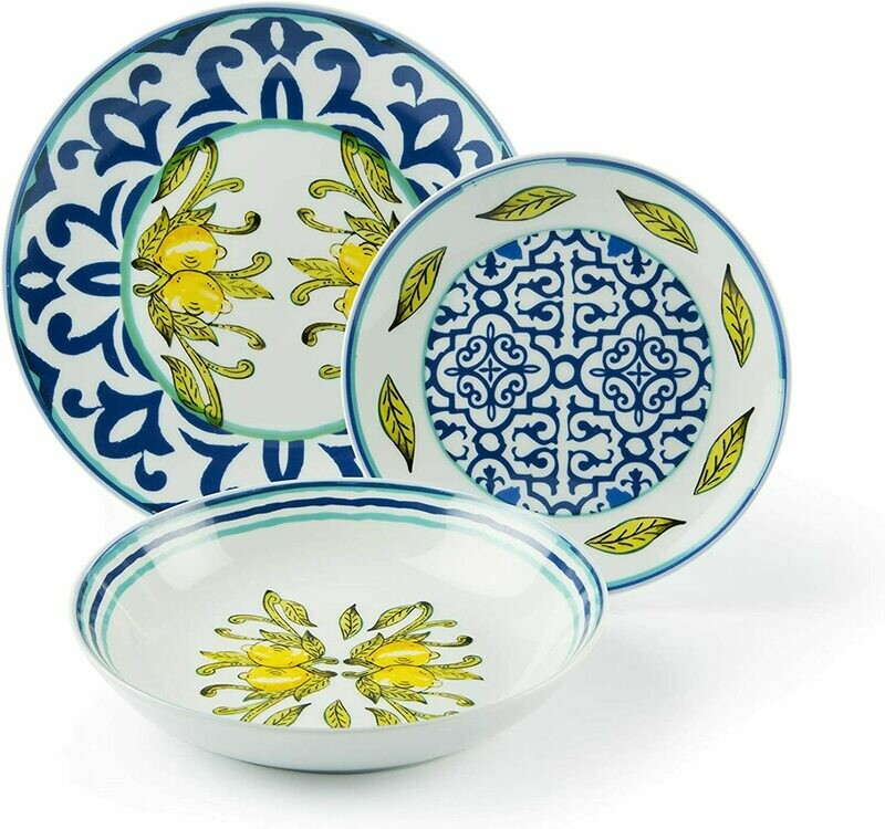 Servizio piatti da tavola 18 pezzi amalfi