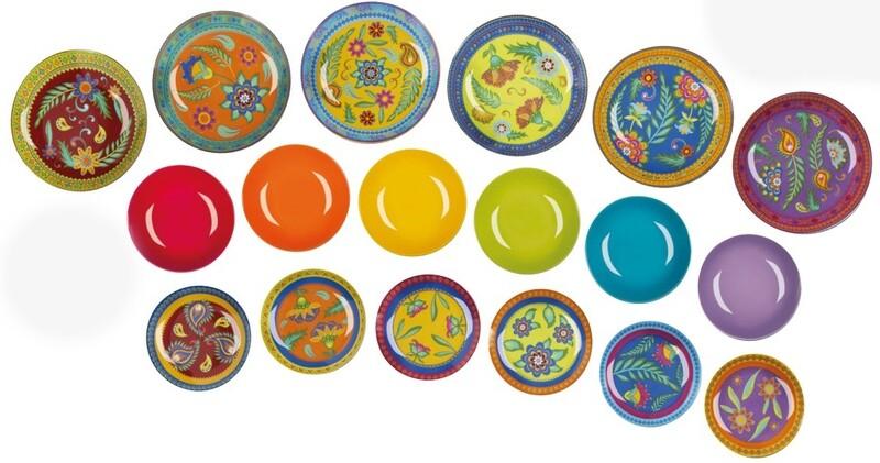 Servizio piatti da tavola 18 pezzi gipsy soul