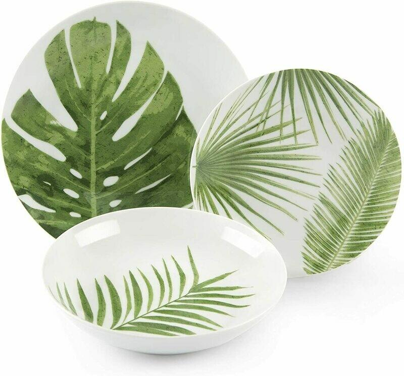 Servizio piatti da tavola 18 pezzi foliage