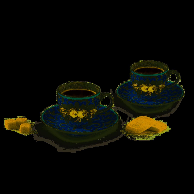 Excelsa Amalfi Set 6 tazzine caffè con piattini