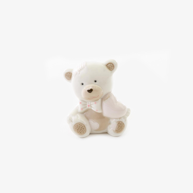 Bomboniera orsetto con cuore rosa Pz.6