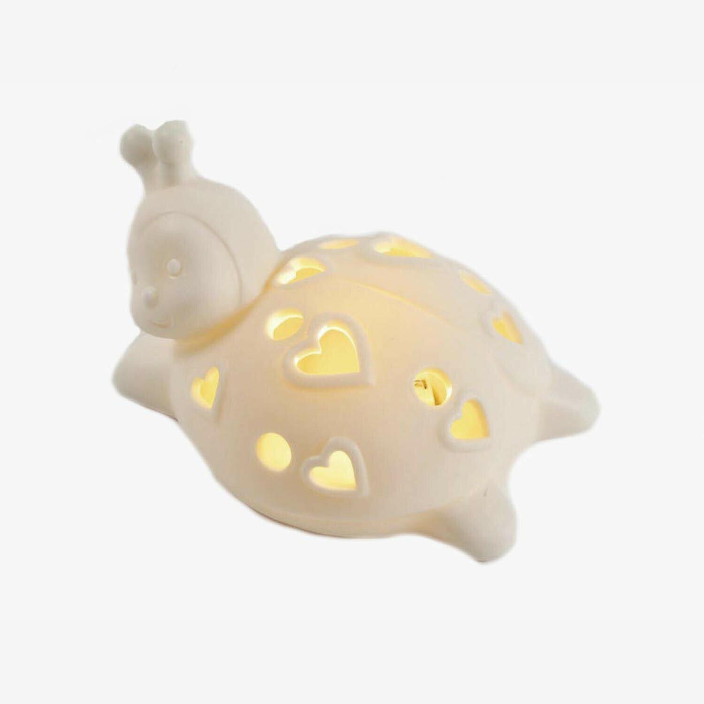 Bomboniera in porcellana coccinella con led Pz. 1