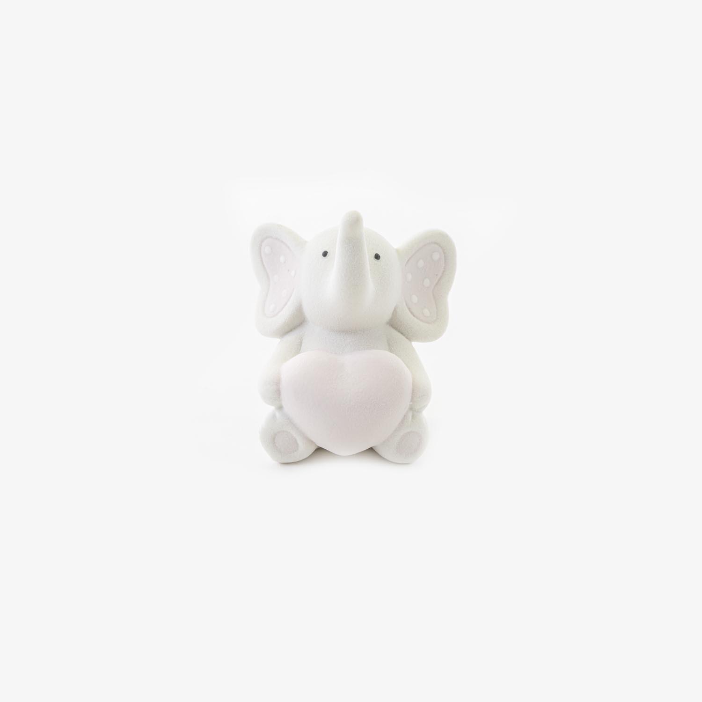 Bomboniera elefantino con cuore rosa Pz. 4