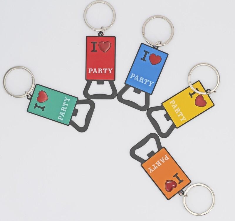 Portachiavi cavatappi in metallo colori assortiti Pz. 5