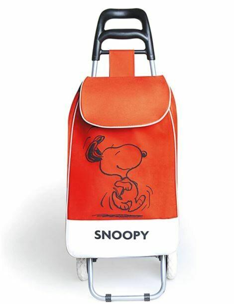 Excelsa Peanuts Snoopy Carrello Spesa, Tessuto, Rosso