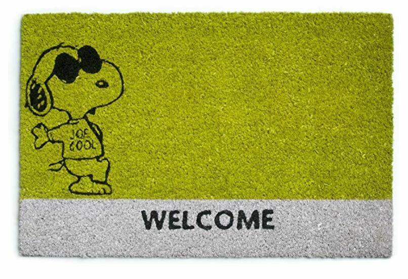 Excelsa Peanuts Zerbino Snoopy Fibra Cocco Verde 40x60x1.5 cm
