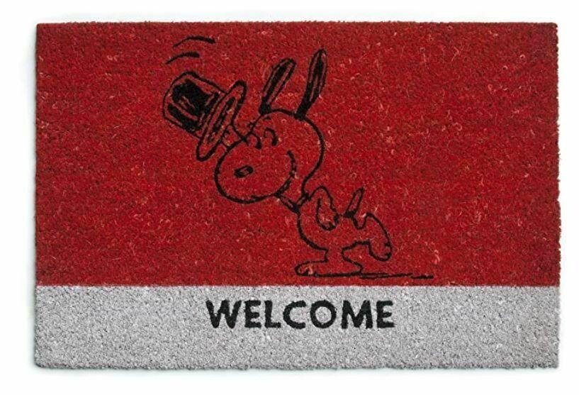 Excelsa Peanuts Zerbino Snoopy, Fibra Cocco, Rosso, 40x60x1.5 cm.