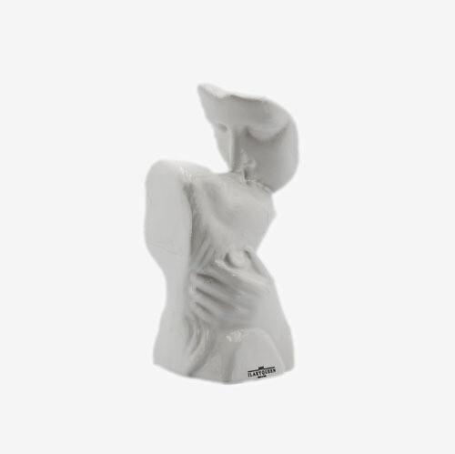 Bomboniera Ilary Queen Statua Bacio Piccola Bianco Lucido Pz. 1