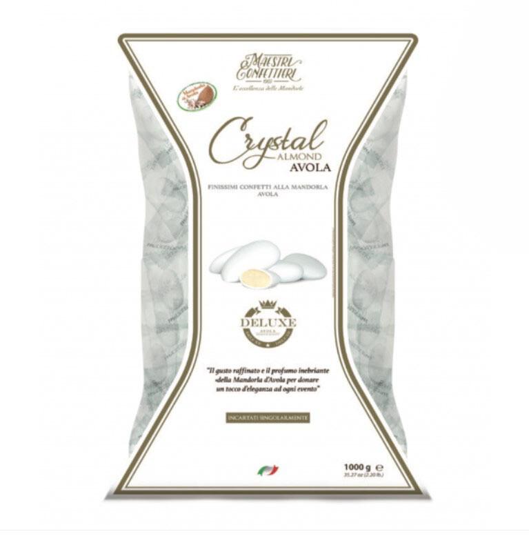 Maxtris Confetti Crystal Almond Deluxe Bianchi Incartati Busta da 1 Kg