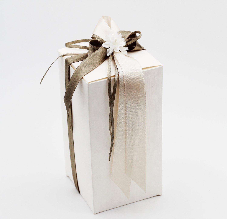Scatolo pieghevole seta bianco confezioni da pz. 10