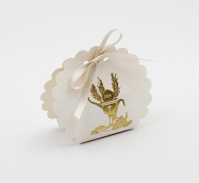 Scatolo borsa rotonda signum oro confezioni da pz. 10