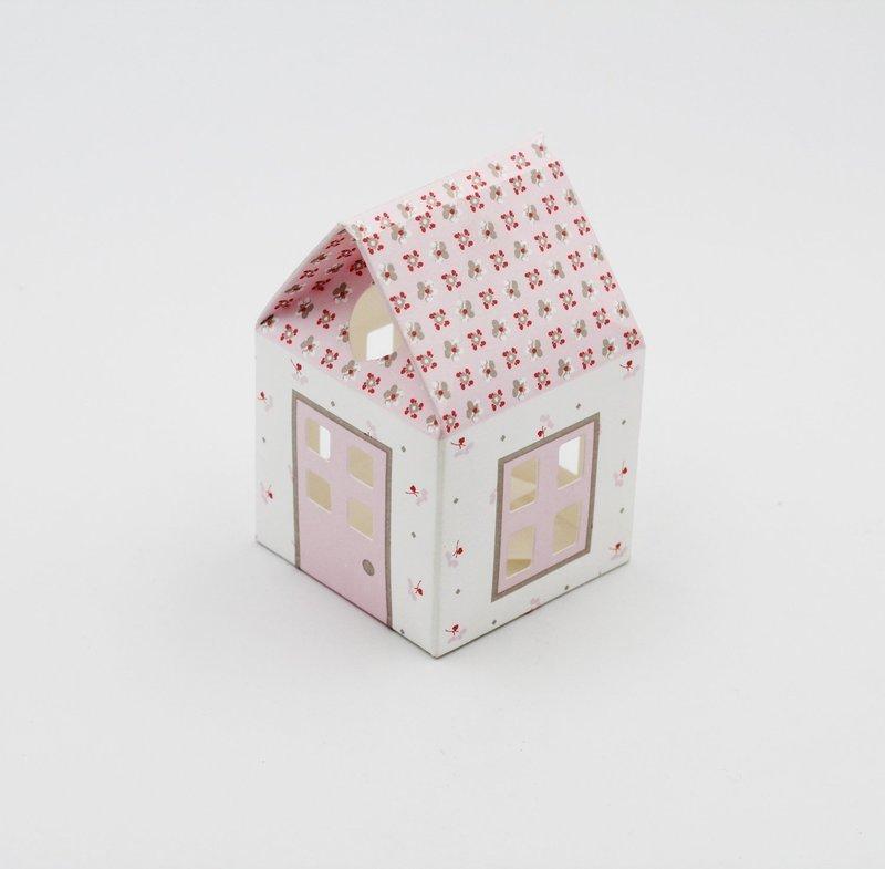 Scatolo casetta bloom rosa confezioni da pz. 10