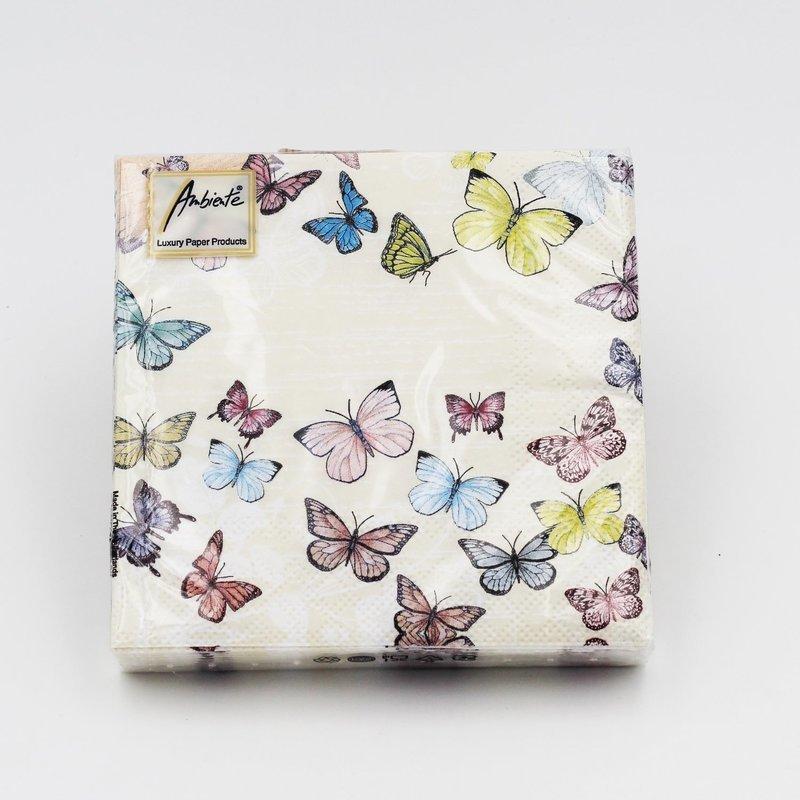 Tovaglioli per eventi butterfly white Pz. 20