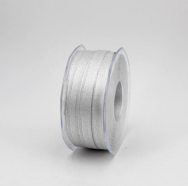 Furlanis nastro doppio raso lurex argento colore 101 mm.10 Mt.50