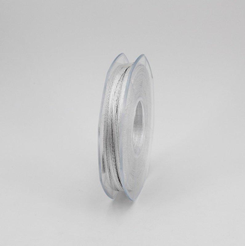 Furlanis nastro doppio raso lurex argento colore 101 mm.3 Mt.50