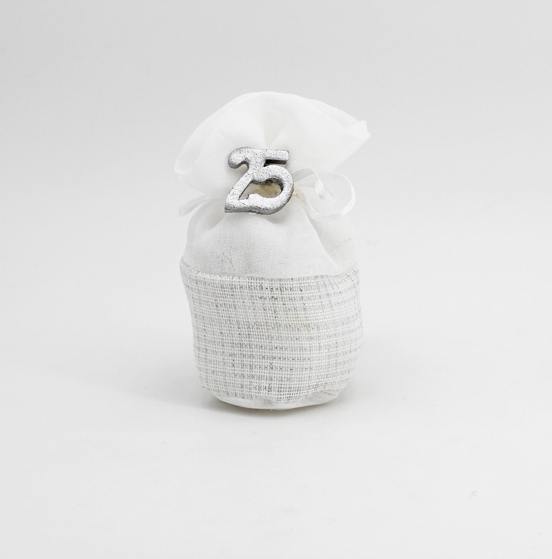 Sacchetto pouf argento Pz.10