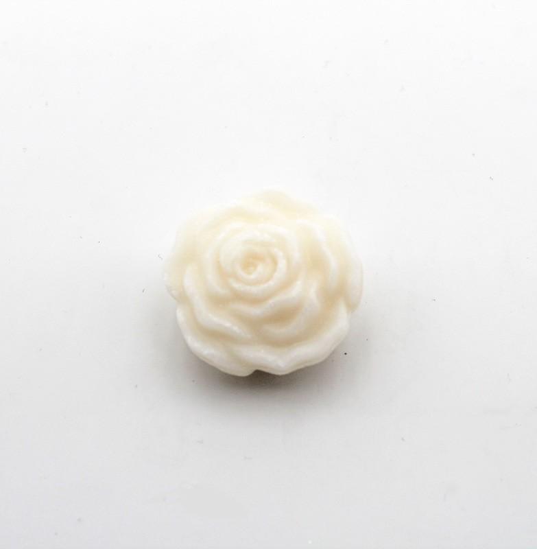 Saponetta piccola a forma di rosa bianca Pz. 12