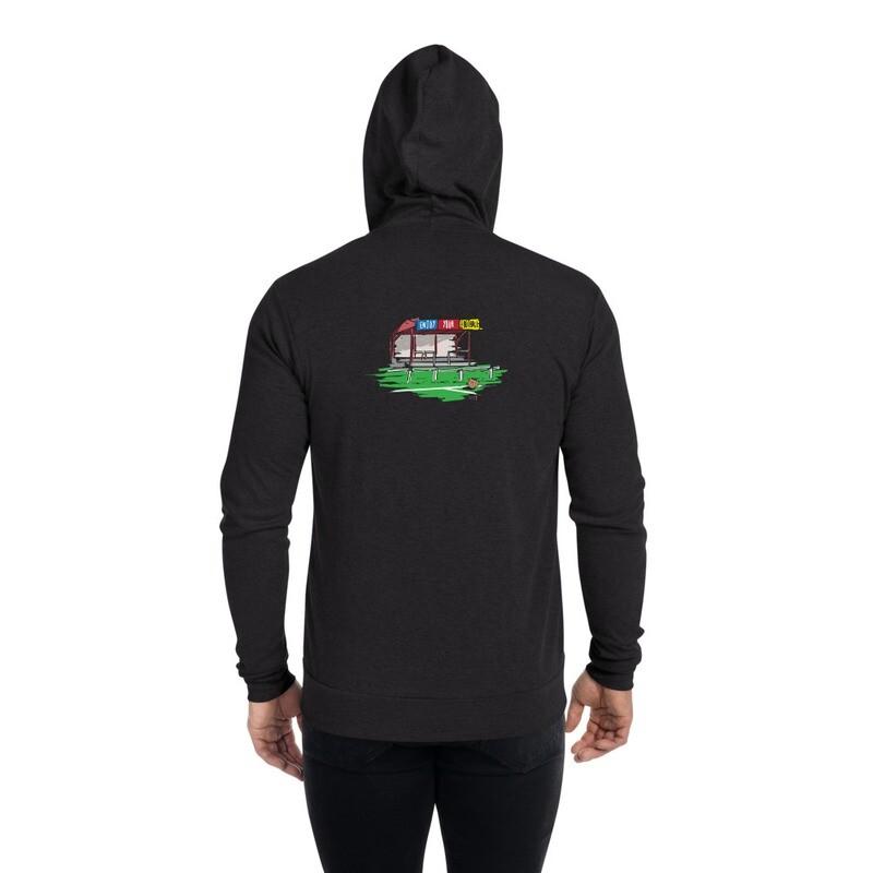Unisex zip hoodie - Crest & Stadium