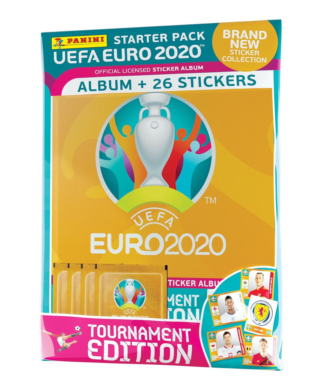 2020 Panini Euro Tournament Edition Starter Pack Album+ 26 Stickers