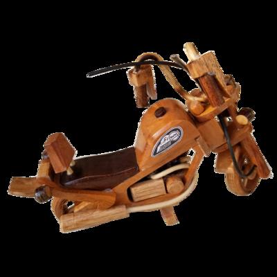 Wooden Motocycle Chopper Decor
