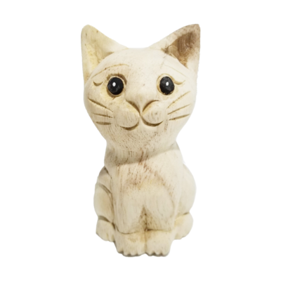 """4"""" Waiting Cat Statue (Facing Front)"""