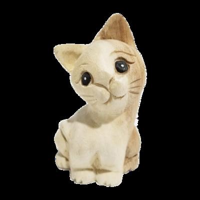"""4"""" Waiting Cat Statue (Facing Left)"""