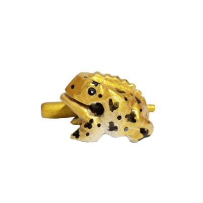 """1.5"""" Egyptian Dart  Frog (Gold)"""