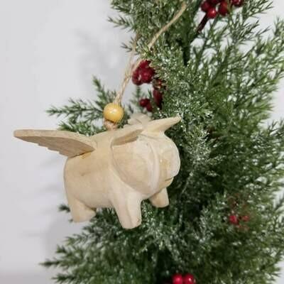Christmas Ornament Angel Pig