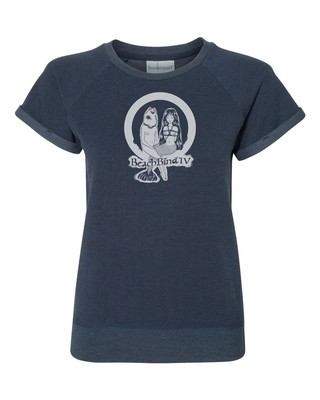 Women's Sweetheart  T-Shirt - BBIV - Navy  - Human Chuo - Fish-Mermaid Original Design