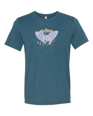 T-Shirt - BBIV - Steel Blue Triblend - Human Chuo - Pussy Original Design