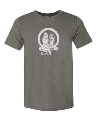 T-Shirt - BBIV - Military Green Triblend- Human Chuo Fish-Mermaid Original Design