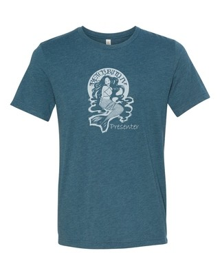 Presenter T-Shirt - BBIV - Steel blue Triblend- Human Chuo Original Mermaid Ball Gag Design